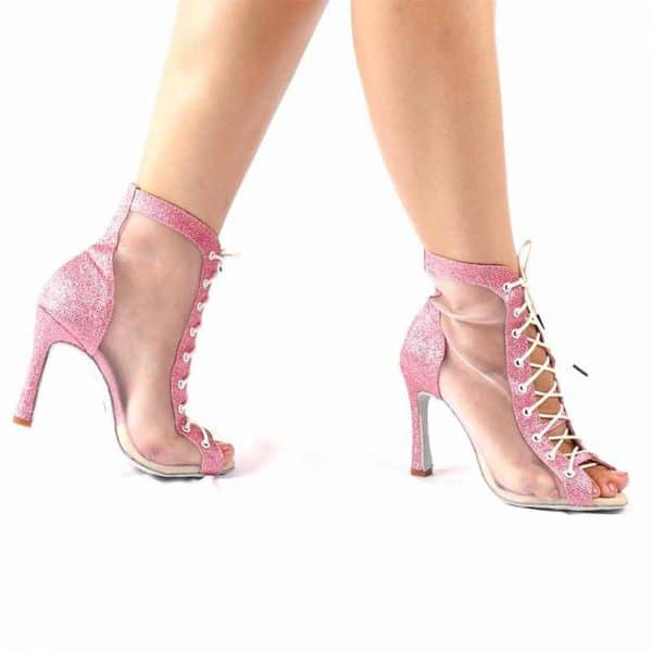 Modelo GD103 Rosa - Zapato de baile latino - Goldance Shoes